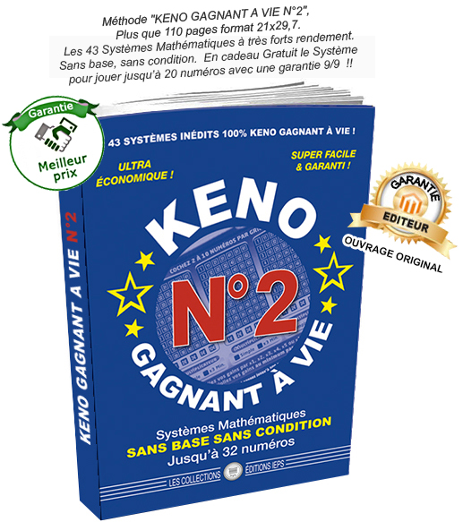 Keno gagnant a vie reglement